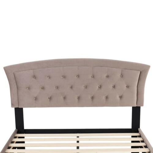 Full Platform Bed Furniture w/