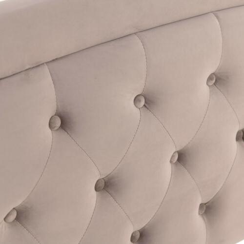 Full Upholstered Platform Bed Furniture w/ Wood