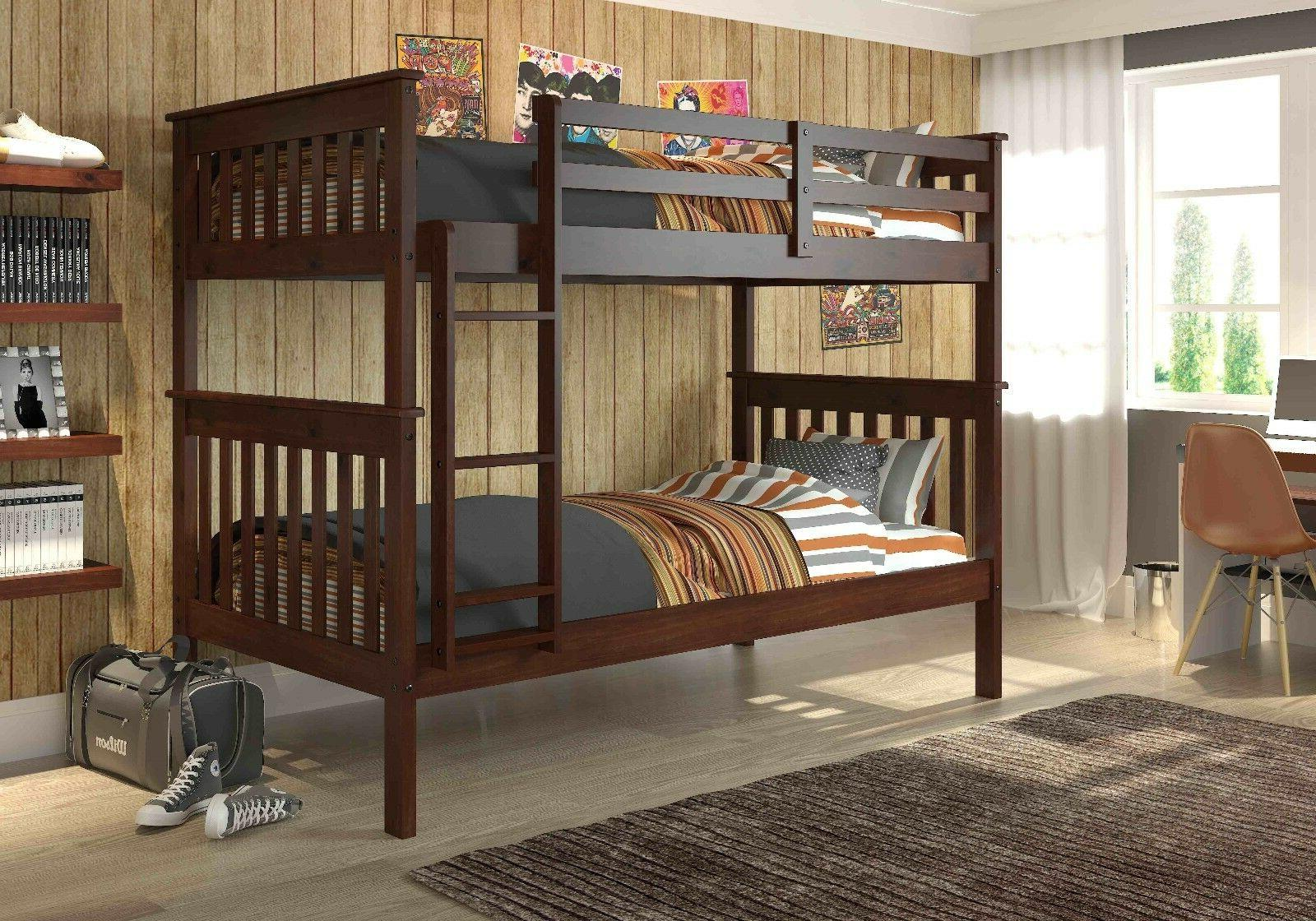 kids twin over twin mission bunk bed