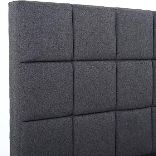 Belleze Dark Gray Square Headboard Support - Full Size