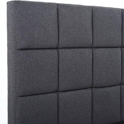 Belleze Size Bed Frame Scallop Platform with Wooden Slats,