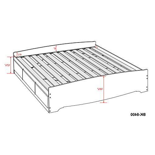 Black King Mate's Storage Bed 6 Drawers