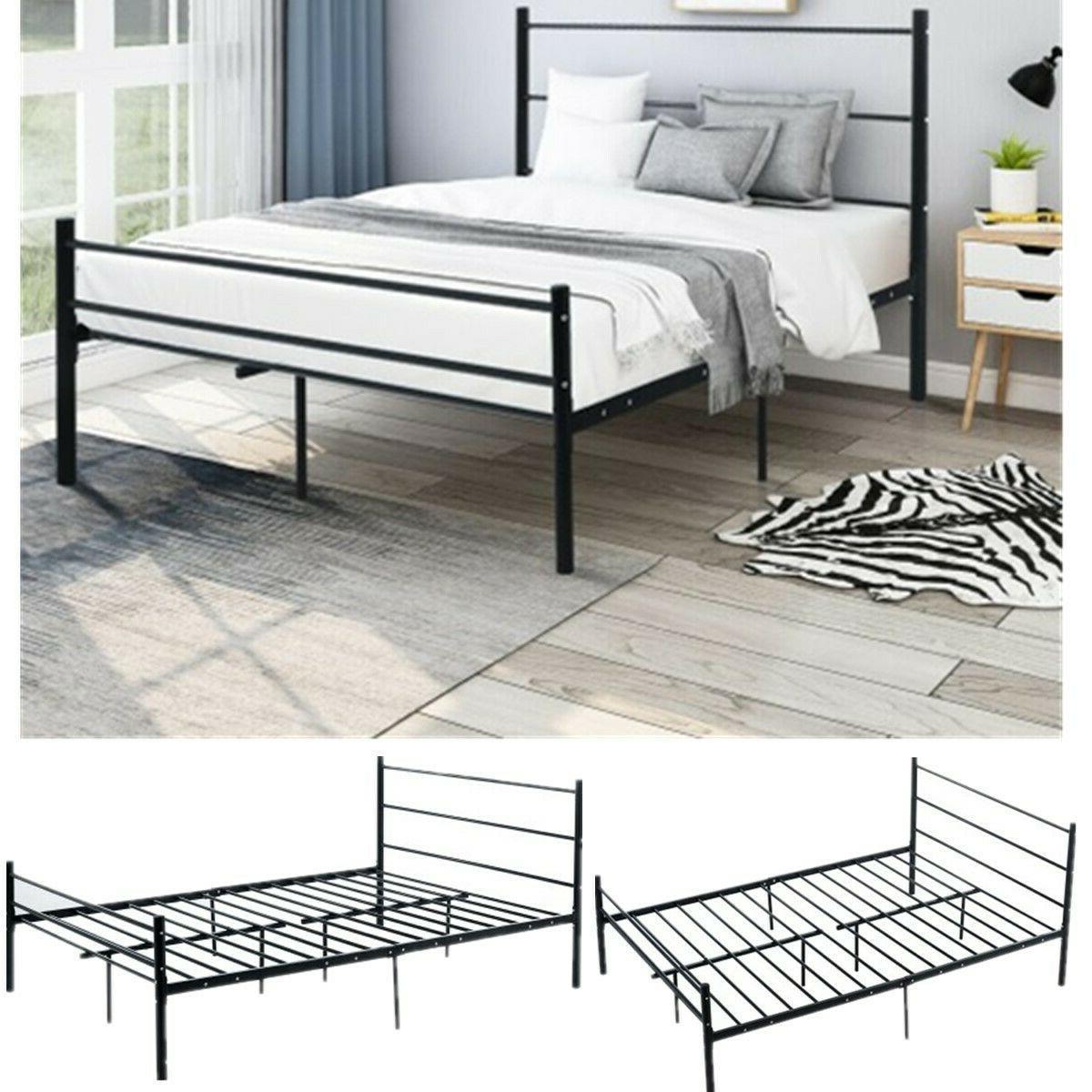 "Full Size 22.8"" inch Platform Bed Frame Heavy Duty Mattress"