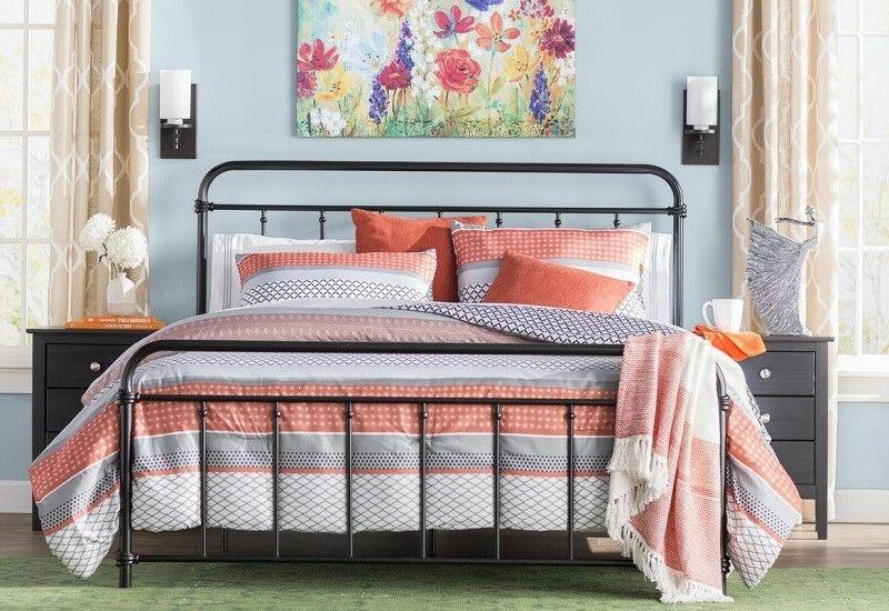 Boys Twin Bed Frame Girls Guest Farmhouse Rustic Retro Indus