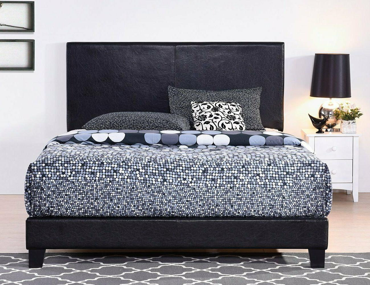 King Size Upholstered Headboard Platform Bedroom