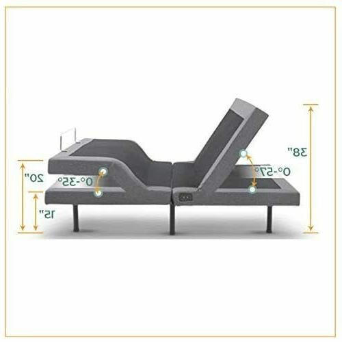 King Size Electric Bed Frame Massage Remote