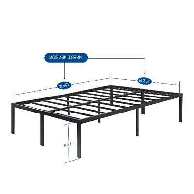 Heavy Duty Metal Platform Bed King King Inch