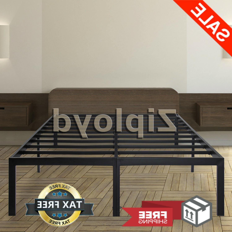 heavy duty metal platform bed frame king