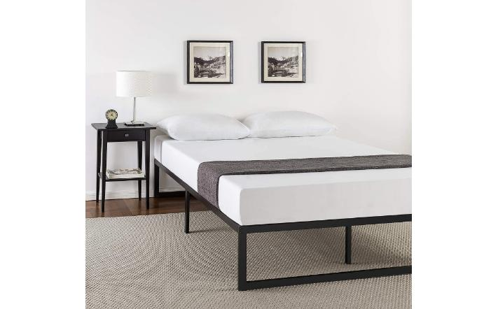 King Metal Bed Frame High Rise Full 14 Black Steel