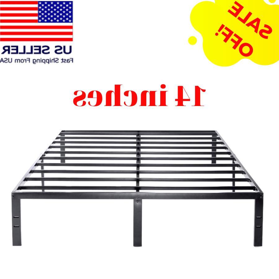 king size metal bed frame platform high