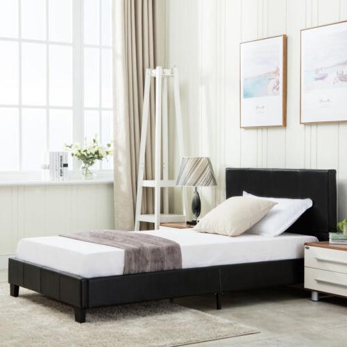 Full Size Frame Slats Platform Bedroom Furniture