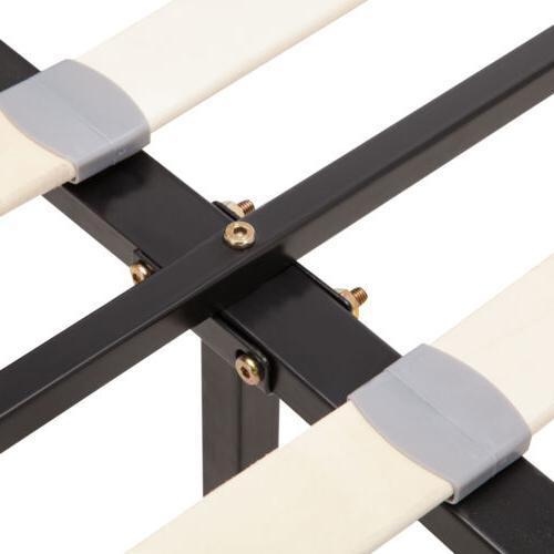 Twin Size Frame Platform Leather Upholstered