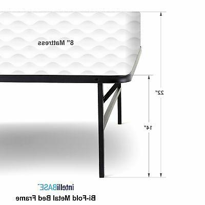 intelliBASE Up Bi-Fold Metal Bed Twin