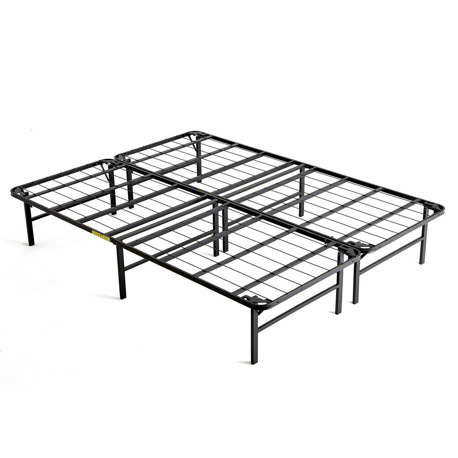 fold platform metal bed frame queen lightweight