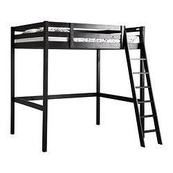 IKEA Loft Bed Frame, Black 1824.20226.2630