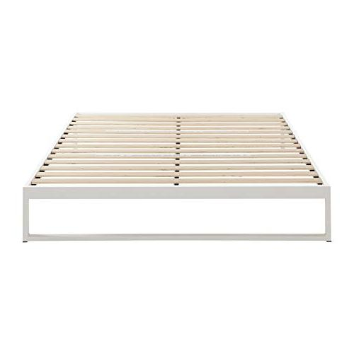 Mínimo - Snow 12 Bed Frame, Foundation, Platform Bed, Wood Slat No Boxspring