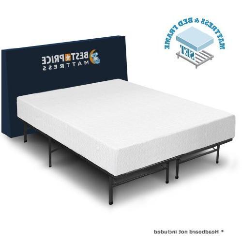 memory foam bed frame set