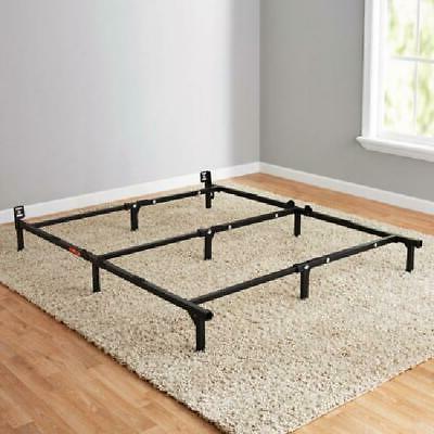 Black Adjustable Metal Bed Frame For Box Spring Mattress Twi