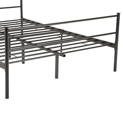 Full Metal Bed Frame Platform with 6 Legs Furniture