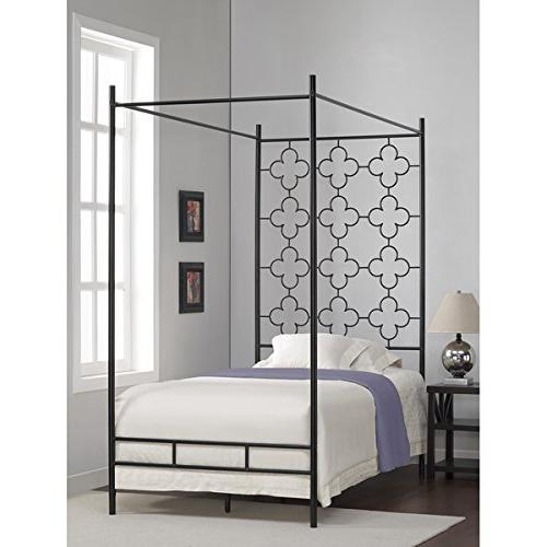 metal canopy bed frame twin