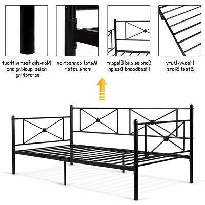 Metal Daybed Bed Frame Platform LivingRoom