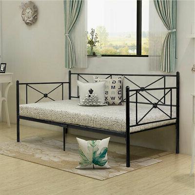Metal Daybed Frame Steel Platform Base Bed LivingRoom