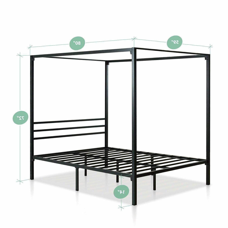 Metal Framed Poster Platform Bed Sizes