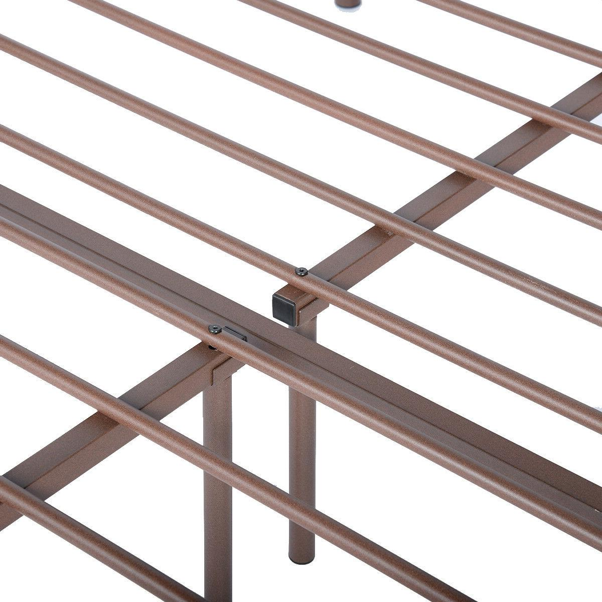 Metal Size Bed Frame Mattress Foundation Headboard and Footboard