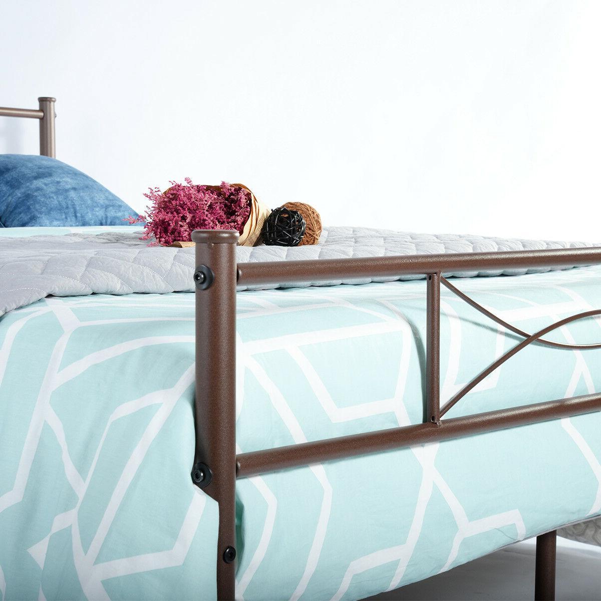 Metal Full Bed Frame Headboard and Footboard