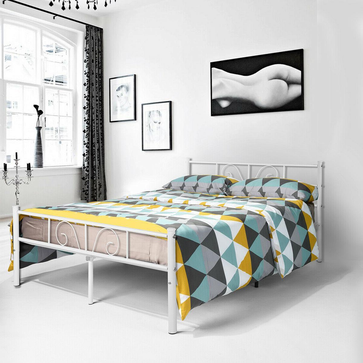 metal full size bed frame mattress foundation