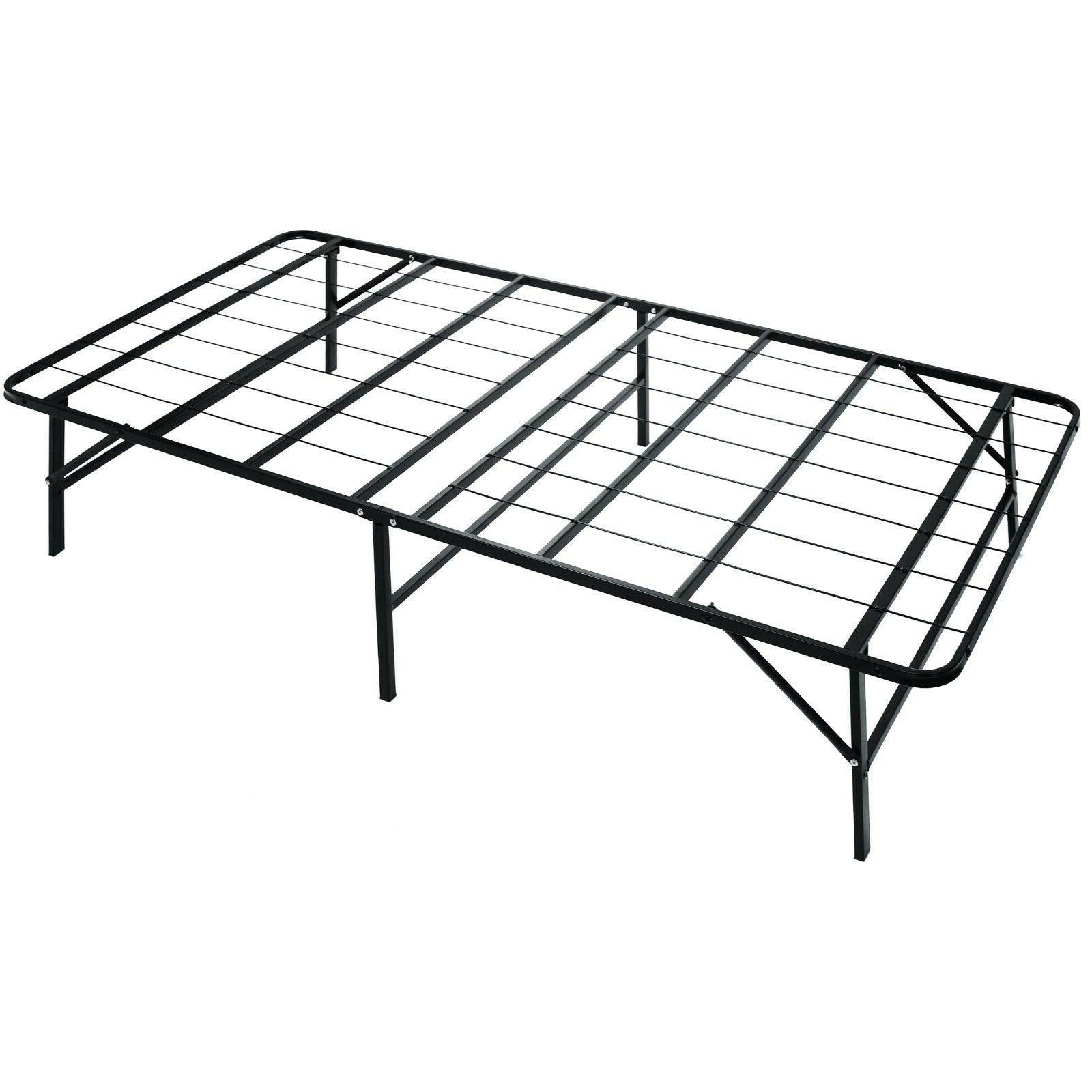 metal platform bed frame box spring replacement