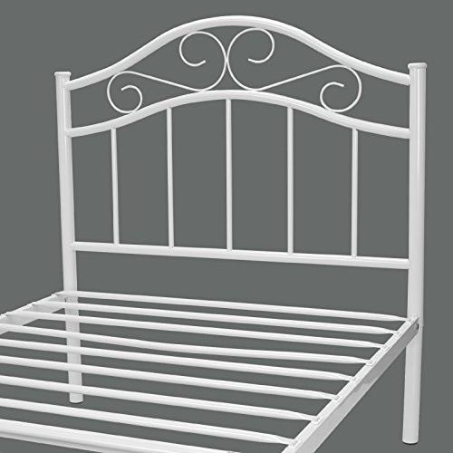 Kingpex Metal Twin / Metal Platform Headboard Bed / Mattress / / / for Adult Bedroom /