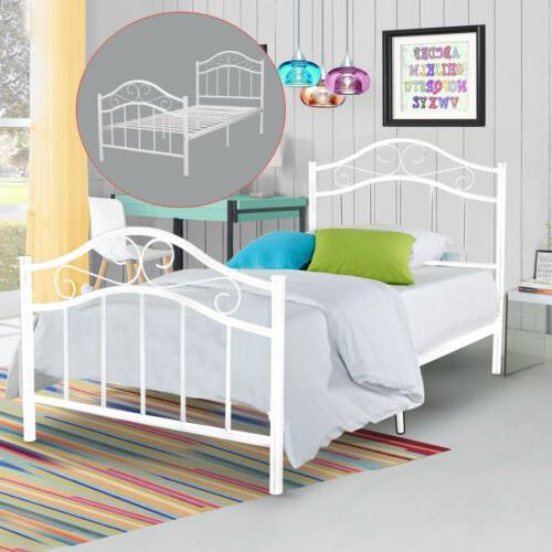 metal platform bed frame twin