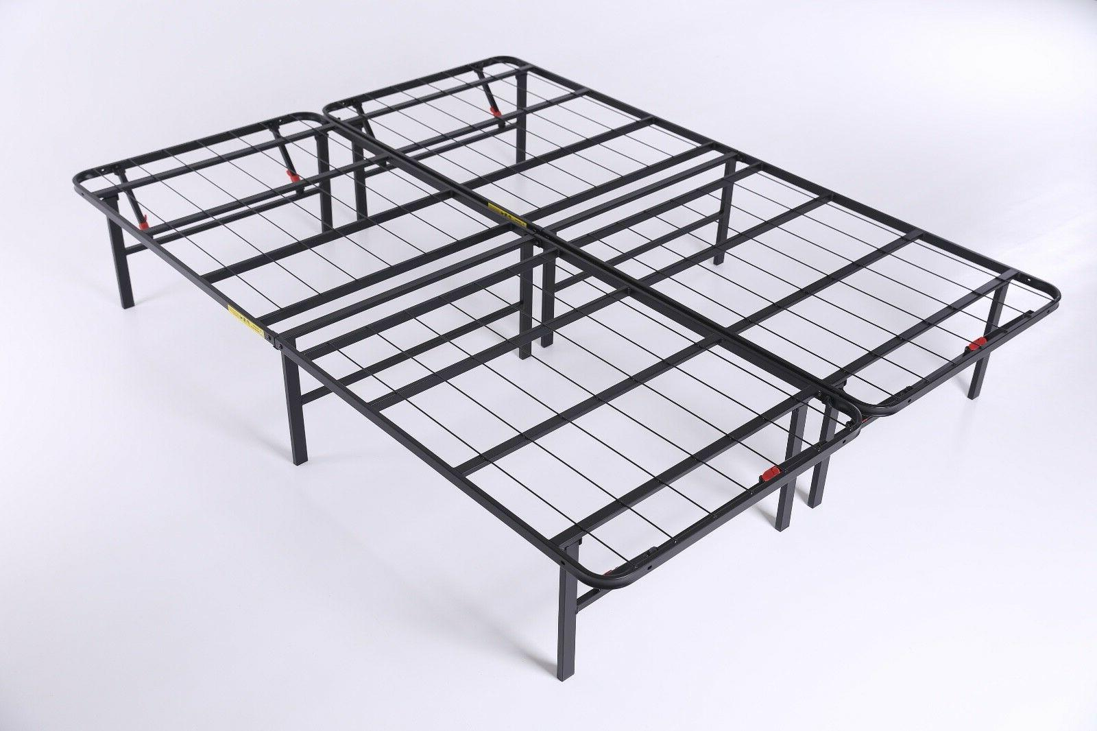 Queen Metal Foldable Bed Frame Foundation duty