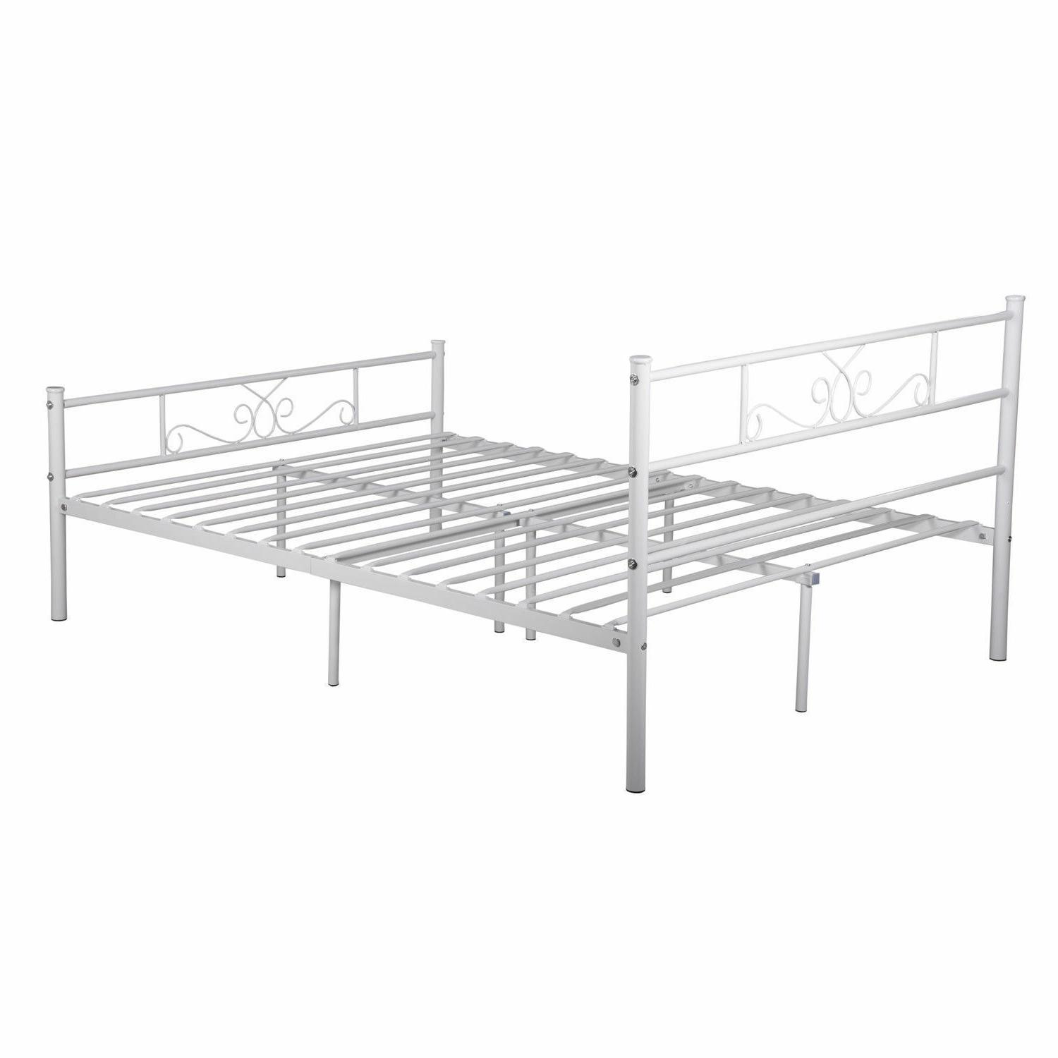 Platform Bed Frame Twin Full Metal Bed Mattress Foundation