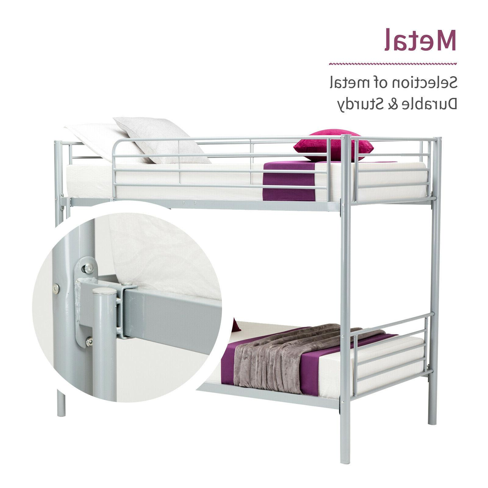 metal twin over bunk