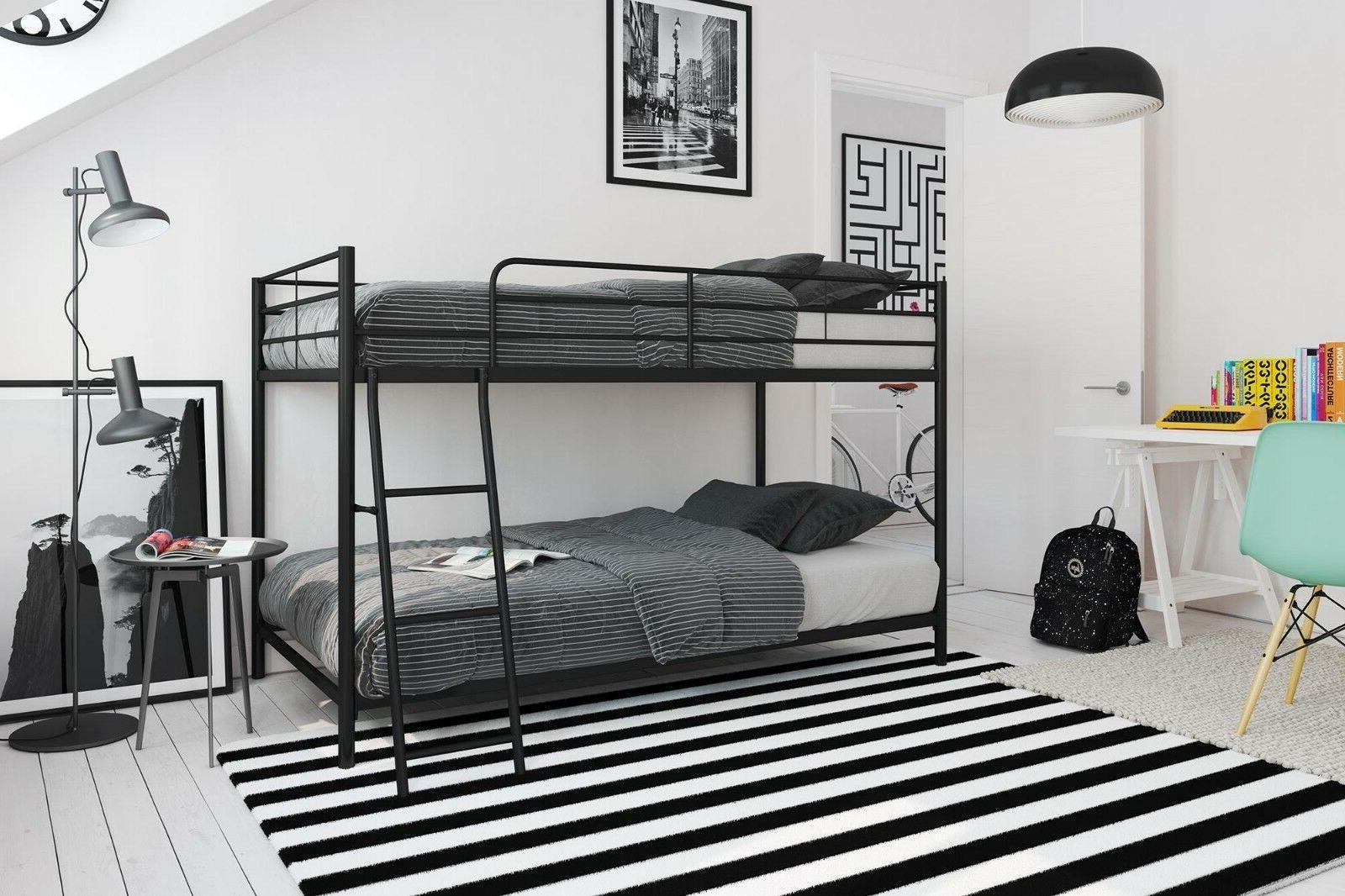 metal twin over bunk beds