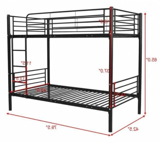 Metal Size Over Bunk Ladder Kids Furniture