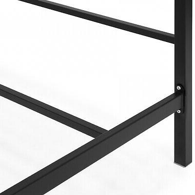 Modern Sized Bed frame With Headboard Black