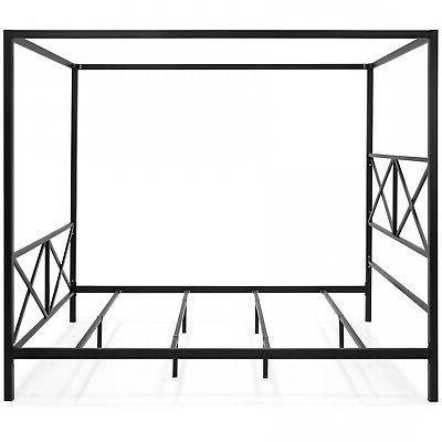 Modern 4 Sized Canopy Bed frame Black