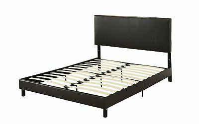 Modern Faux Leather Bed Frame,