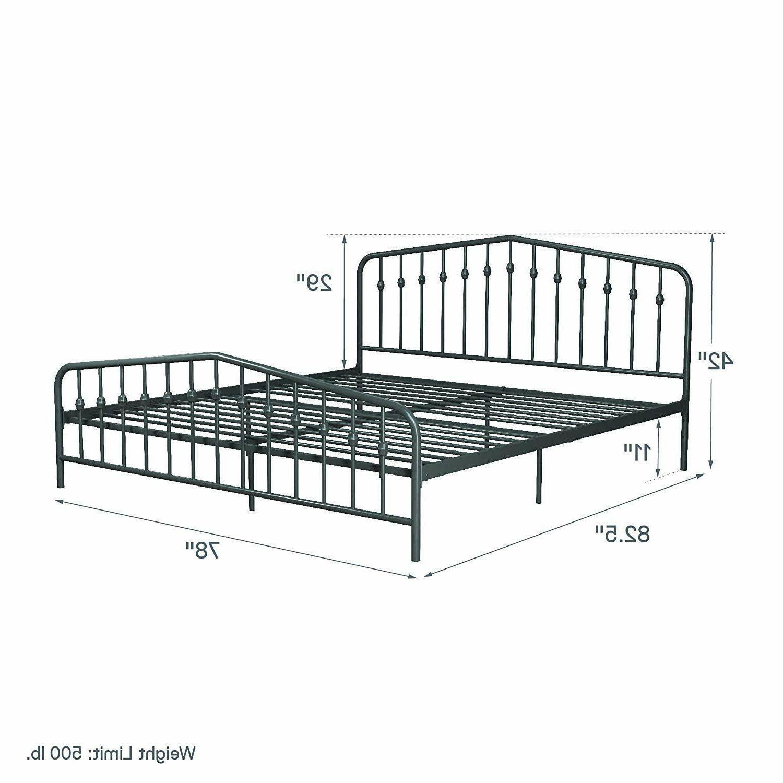 Modern Full Queen King Platform Bed Frame Gray