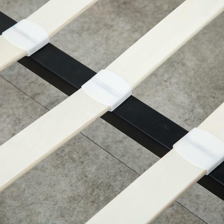 Modern Platform Size Leather Bed Headboard w/LED