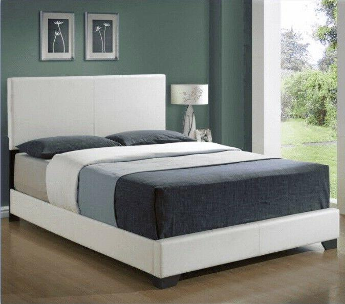 Marco De Cama Modern Queen Size Platform Bed Frame With Head