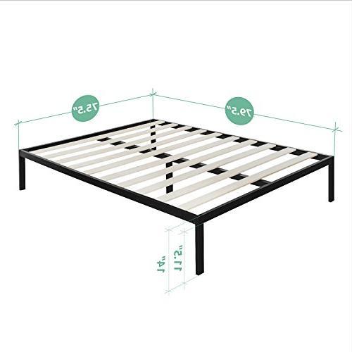 Zinus Studio Inch Platform 3000 Bed Mattress Foundation / needed Wooden Support Good Award Winner,