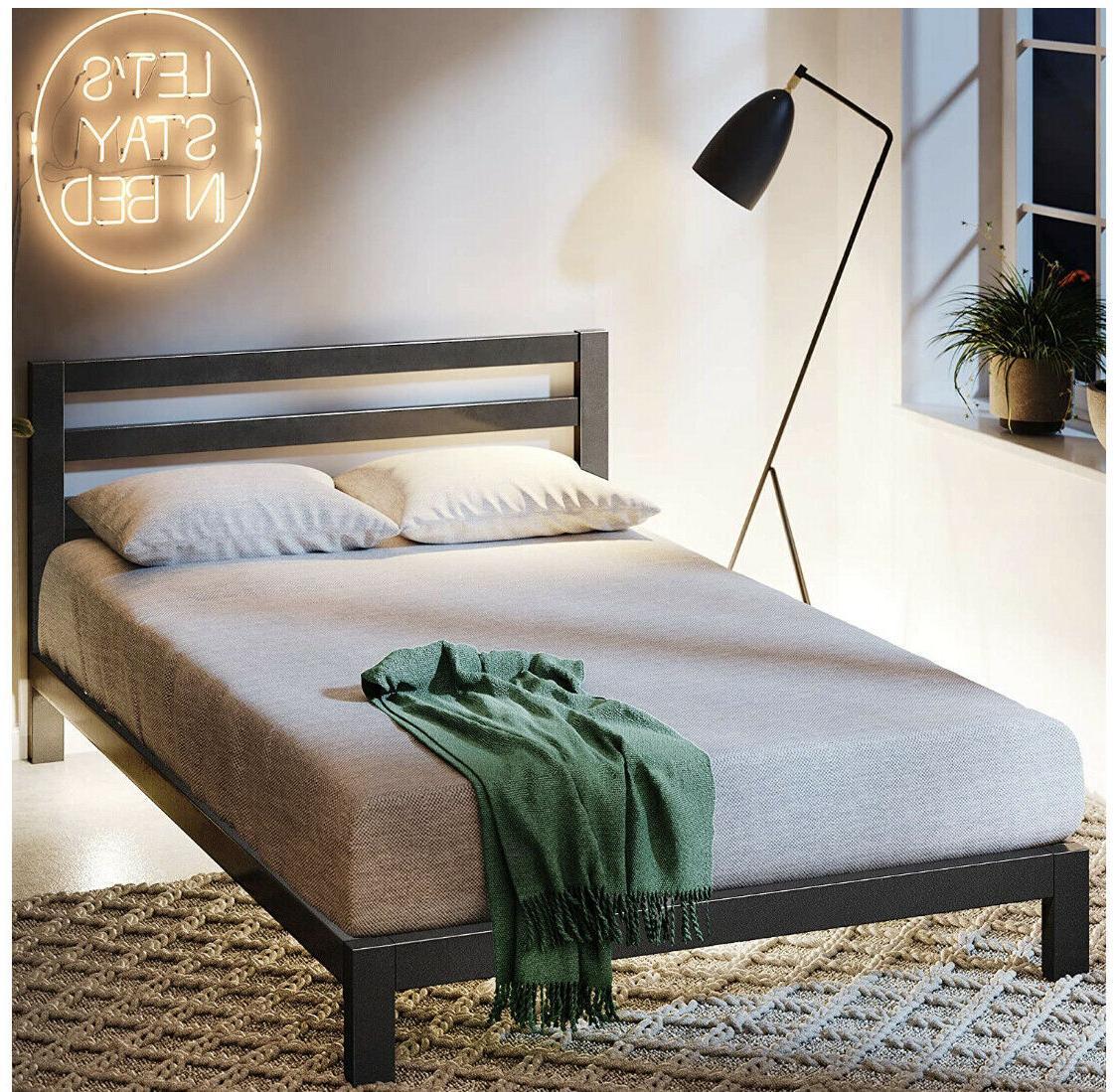 modern studio platform metal bed