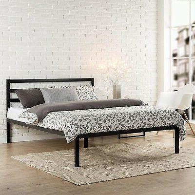 Modern Studio Platform 1500H Metal Bed Frame/Foundation with