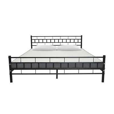 new black queen wood slats bed frame