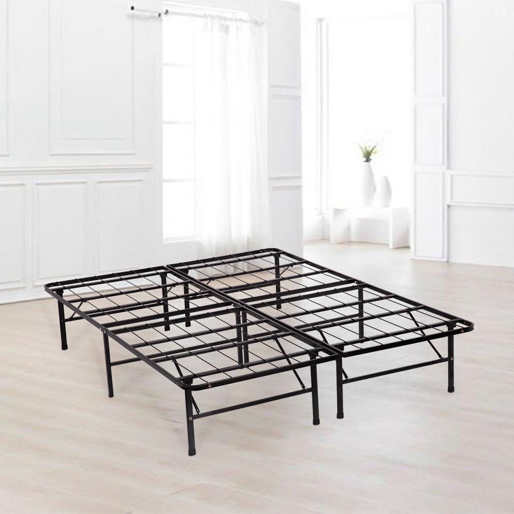 New Bi-Fold Folding Platform Metal Bed Mattress BF