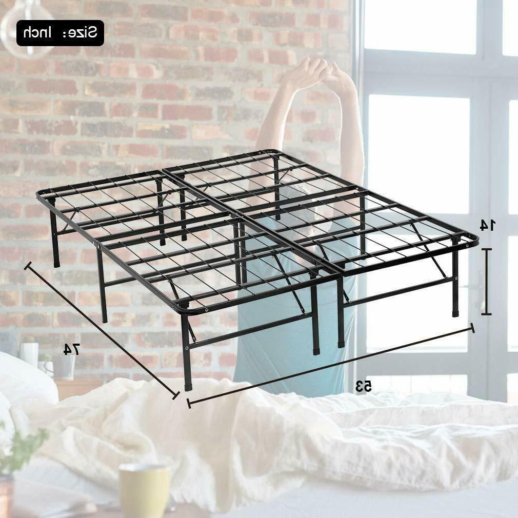 New Modern Platform Metal Bed Mattress